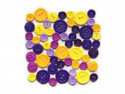 Guziki plastikowe - żółte, fioletowe
