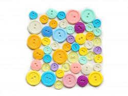 Guziki plastikowe - cukierkowe, pastelowe