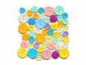 Guziki plastikowe - cukierkowe, pastelowe, cytrynowe, miętowe, lawendowe, różowe