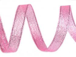Tasiemka brokatowa 6mm różowa