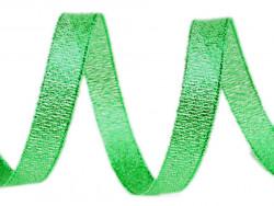 Tasiemka brokatowa 6mm zielona