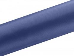 Satyna dekoracyjna 160mm niebieska ciemna
