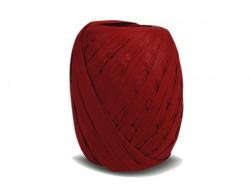 RAFIA papierowa płaska 30m czerwona ciemna