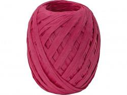 RAFIA papierowa płaska 30m amarantowa różowa