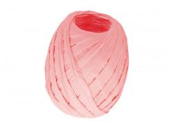 RAFIA papierowa płaska 30m różowa jasna