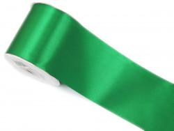 Wstążka satynowa 100mm zielona rolka 50m