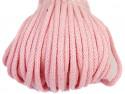 Sznurek bawełniany 5mm różowy jasny