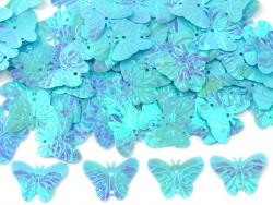 Cekiny motylki błękitne