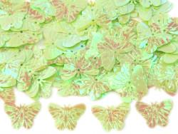 Cekiny motylki 22mm pistacjowe