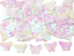 Cekiny motylki 22mm białe