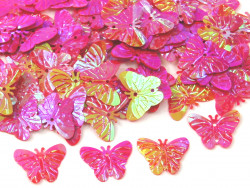 Cekiny motylki 22mm amarantowe różowe