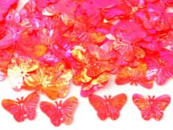 Cekiny motylki 22mm różowe