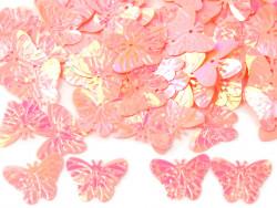 Cekiny motylki 22mm różowe jasne ciepłe