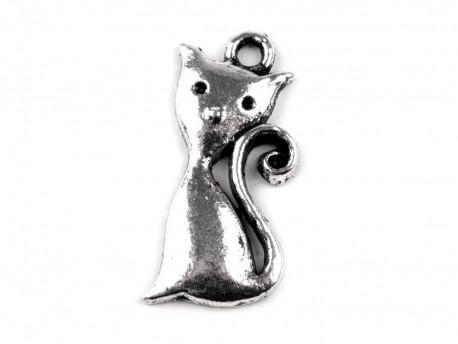 Zawieszka metalowa kot