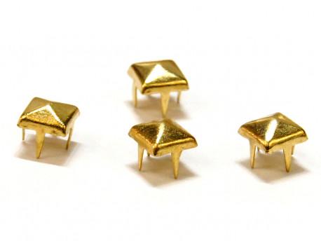 Ćwieki piramidki 5mm złote