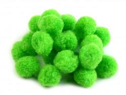 Pompony jasne zielone 25mm - 10szt