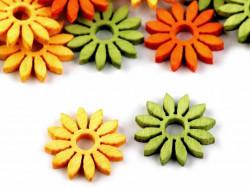 Kwiatek drewniany 19mm zielony