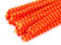Druty kreatywne w paski pomarańczowe-czerwone 10szt