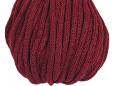 Sznurek bawełniany 5mm bordowy