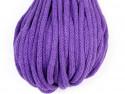 Sznurek bawełniany 5mm fioletowy