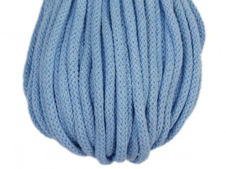 Sznurek bawełniany 5mm błękitny