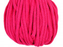 Sznurek bawełniany 5mm różowy amarantowy