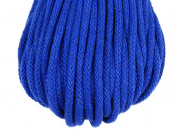 Sznurek bawełniany 5mm chabrowy niebieski