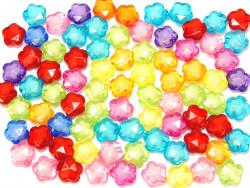 Koraliki kwiatki 13mm mix kolorów 50szt