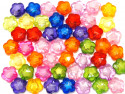 Koraliki kwiatki 20mm mix kolorów 50szt