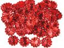 Cekiny kwiatki 22mm promienie czerwone