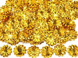 Cekiny kwiatki 22mm promienie złote