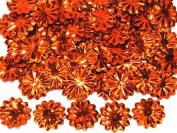 Cekiny kwiatki 22mm promienie rude pomarańczowe
