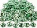 Cekiny kwiatki 22mm promienie miętowe zielone
