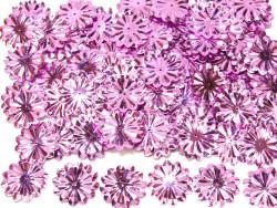 Cekiny kwiatki 22mm promienie fiołkowe różowe