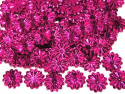 Cekiny kwiatki 22mm promienie fuksja różowe
