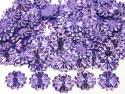 Cekiny kwiatki 22mm promienie fioletowe jasne