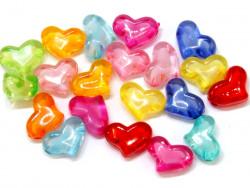 Koraliki serca 20x15mm mix kolorów 20szt