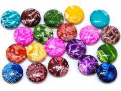 Koraliki pastylki 19,5mm mix kolorów 20szt
