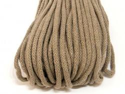 Sznurek bawełniany 5mm beżowy ciemny