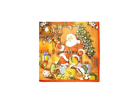 Serwetki Decoupage - Święty Mikołaj i Prezenty