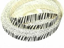Tasiemka bawełniana jodełka 15mm zebra