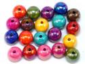Koraliki kulki opalizujące 13mm mix kolorów 20szt