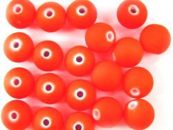 Koraliki neonowe 11mm pomarańczowe 17szt