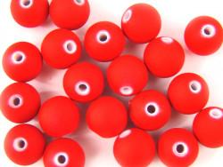 Koraliki neonowe 11mm czerwone 20szt
