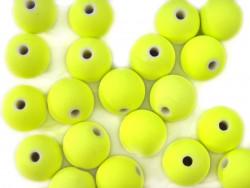 Koraliki neonowe 11mm żółte 20szt