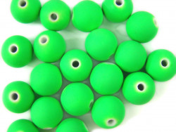 Koraliki neonowe 11mm zielone 20szt