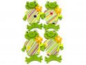 Aplikacje z filcu żabki chłopcy 4szt przylepiec