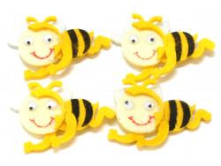 Aplikacje z filcu pszczółki 4szt przylepiec