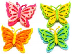 Aplikacje z filcu motylki 4szt przylepiec