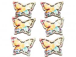 Drewniane motyle 6szt przylepiec
